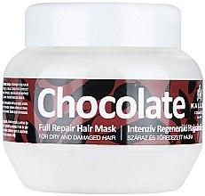 Düfte, Parfümerie und Kosmetik Maske für trockenes und erschöpftes Haar mit Olive, Shea und Argan - Kallos Cosmetics Chocolate Mask