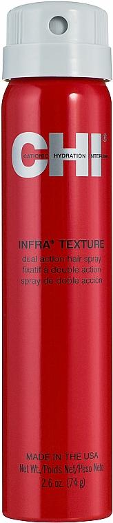 Schnell trockendes Haarspray für mehr Glanz - CHI Infra Texture Dual Action Hair Spray — Bild N1