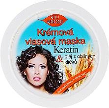 Düfte, Parfümerie und Kosmetik Haarmaske - Bione Cosmetics Keratin + Grain Sprouts Oil Cream Hair Mask