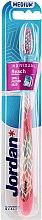 Düfte, Parfümerie und Kosmetik Zahnbürste mittel Individual Reach rosa mit Mustern - Jordan Individual Reach Toothbrush