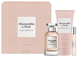 Düfte, Parfümerie und Kosmetik Abercrombie & Fitch Authentic - Duftset (Eau de Parfum 100ml + Körperlotion 200ml + Eau de Parfum Mini 15ml)