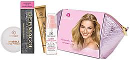 Düfte, Parfümerie und Kosmetik Gesichtspflegeset (Foundation 30g + Grundierung 30ml + Puder 13g + Kosmetiktasche) - Dermacol