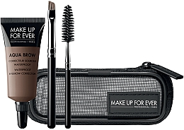 Düfte, Parfümerie und Kosmetik Make-up Set (Augenbrauenkorrektor 7ml+Bürste 2 St.+Kosmetiktasche) - Make Up For Ever Aqua Brow Eyebrow Corrector Kit 15 -Light Brown