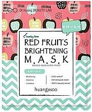 Düfte, Parfümerie und Kosmetik Aufhellende Tuchmaske mit roten Früchten - Huangjisoo Red Fruits Brightening Mask