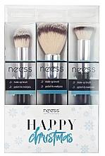 Düfte, Parfümerie und Kosmetik Make-up Pinselset 3-tlg. - Neess