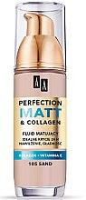 Düfte, Parfümerie und Kosmetik Mattierende Foundation mit Kollagen und Vitamin E - AA Cosmetics Make Up Perfection Matt & Collagen Fluid