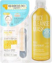 Düfte, Parfümerie und Kosmetik Zwei-Phasen-Gesichtsmaske mit Grünkohl und Grapefruit - Ariul Juice Cleanse 2X Plus Mask Pack Kale & Grapefruit