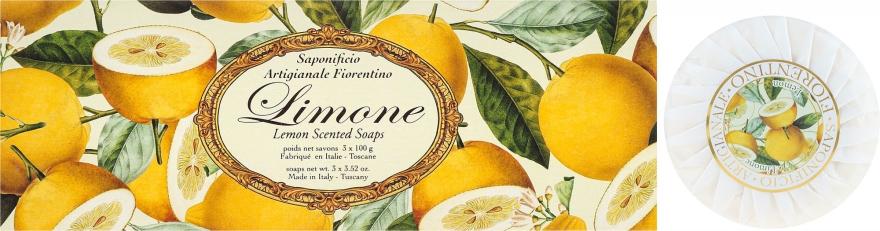 Seifenset Zitrone - Saponificio Artigianale Fiorentino Lemon Soap — Bild N1