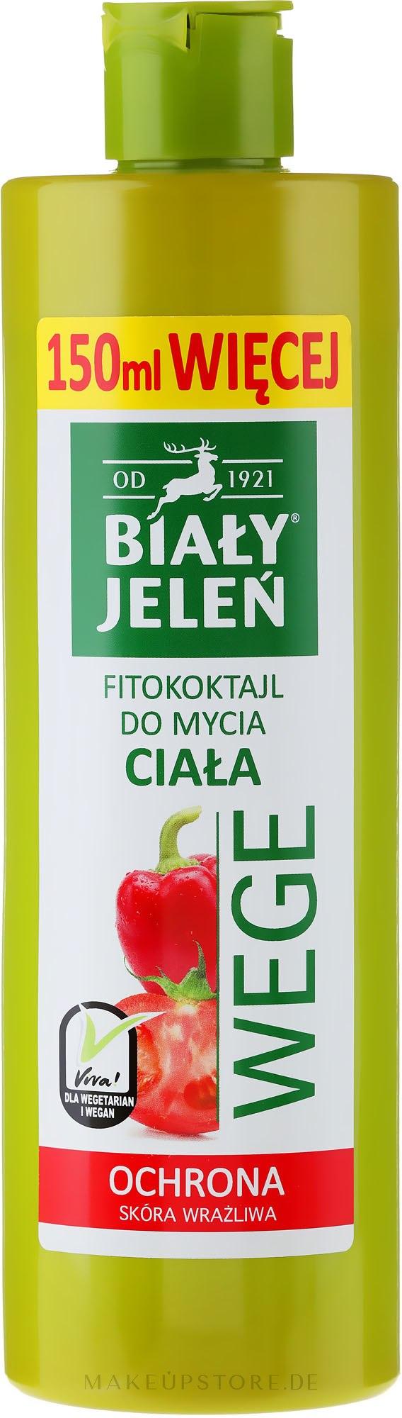 Veganes Duschgel mit Paprika und Tomate - Bialy Jelen Wege — Bild 400 ml