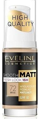 Langanhaltende und glättende Foundation LSF 10 - Eveline Cosmetics Smooth Matt SPF10 — Bild N1