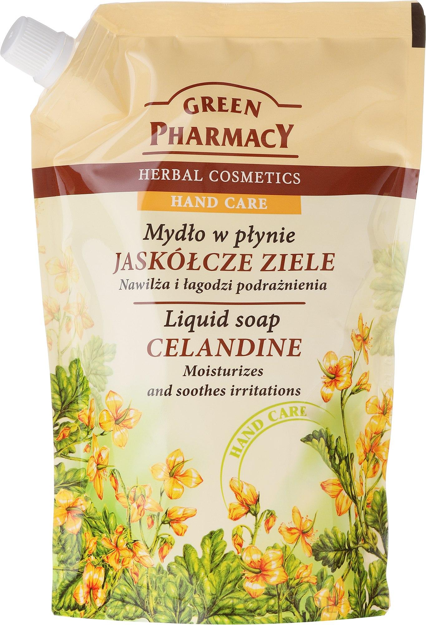 Flüssige Handseife mit Schöllkraut - Green Pharmacy Celandine Liquid Soap (Doypack) — Bild 465 ml