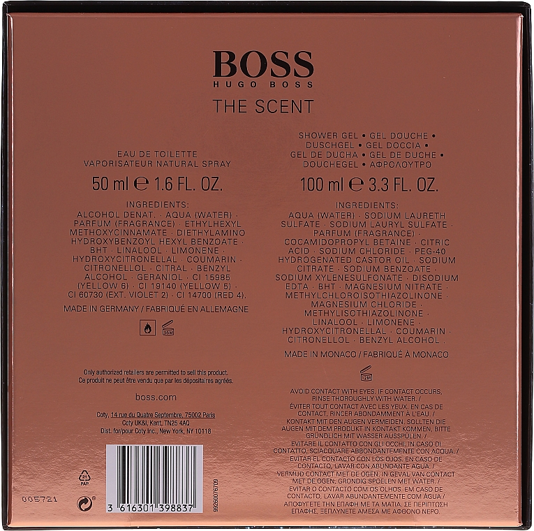 Hugo Boss The Scent - Duftset (Eau de Toilette 50ml + Duschgel 100ml) — Bild N4