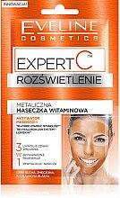 Düfte, Parfümerie und Kosmetik 3in1 Aufhellende metallische Vitamin-Maske - Eveline Cosmetics Expert C Illuminating Metallic Vitamin Mask