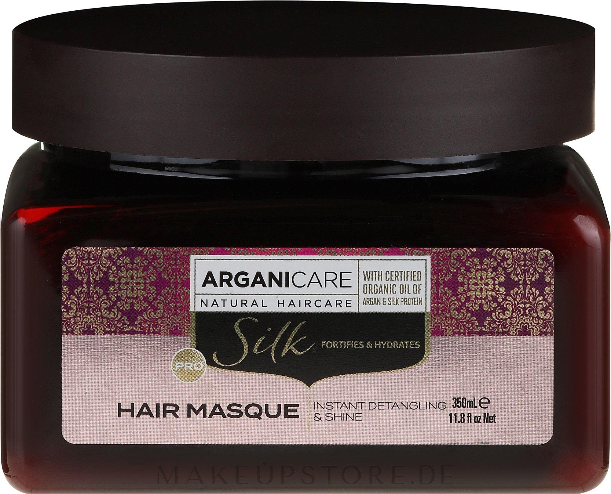 Haarmaske mit Seidenproteinen - Arganicare Silk Hair Masque — Bild 350 ml