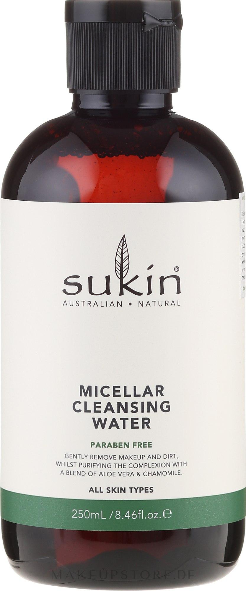 Mizellen-Gesichtsreinigungswasser mit Gurke und Kamille - Sukin Micellar Cleansing Water — Bild 250 ml