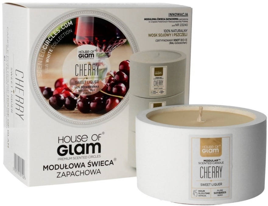 Soja-Duftkerze Sweet Cherry Liquer - House of Glam Raw White Collection Sweet Cherry Liquer Candle — Bild N1