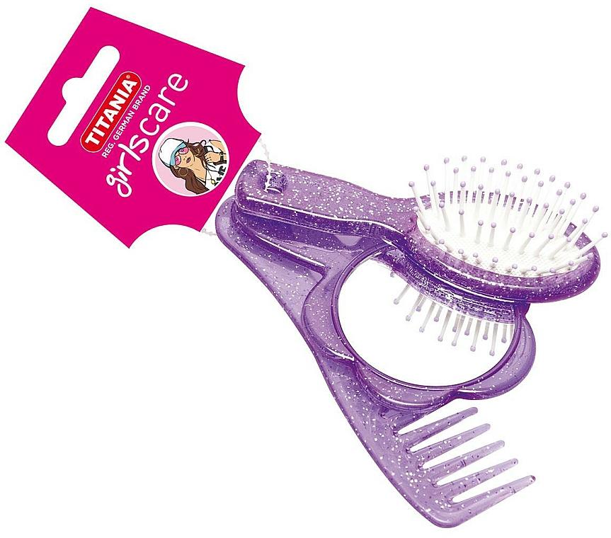 Haarpflegeset für Mädchen 3-tlg. violett - Titania