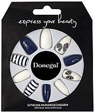Düfte, Parfümerie und Kosmetik Künstliche Nägel Set blau, weiß - Donegal Express Your Beauty