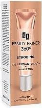 Düfte, Parfümerie und Kosmetik Feuchtigkeitsspendender aufhellender Primer mit Vitamin C und Extrakt aus Preiselbeeren - AA Cosmetics Strobing Beauty Primer 360