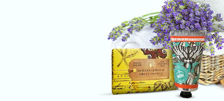 15% Rabatt auf das gesamte Sortiment von The English Soap Company. Die Preise auf der Website sind inklusive Rabatt