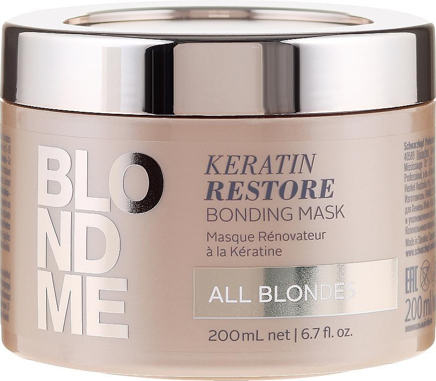 Aufbauende Intensivkur für blondes Haar - Schwarzkopf Professional Blondme Keratin Restore Bonding Mask