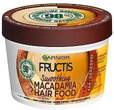 Düfte, Parfümerie und Kosmetik Glättende Haarmaske für widerspenstiges und trockenes Haar - Garnier Fructis Macadamia Hair Food Smoothing Mask