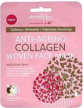 Düfte, Parfümerie und Kosmetik Anti-Aging Tuchmaske für das Gesicht mit Kollagen - Derma V10 Woven Face Mask Anti Ageing Collagen