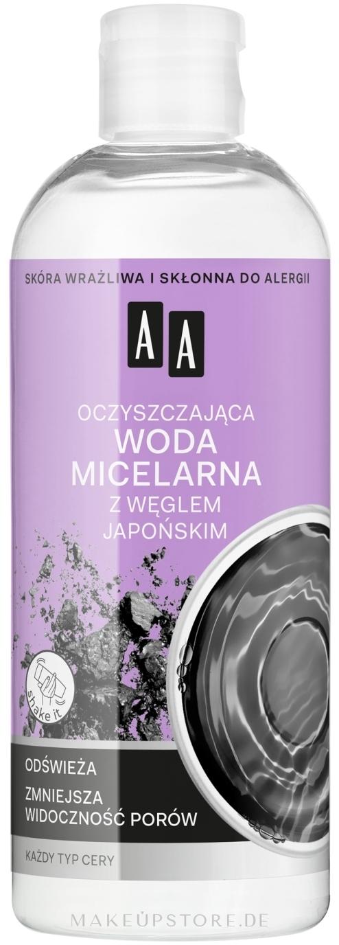 Mizellen-Reinigungswasser mit japanischer Kohle - AA Skin Food — Bild 400 ml