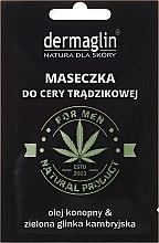 Düfte, Parfümerie und Kosmetik Gesichtsmaske für Männer mit Hanföl und grünem Ton - Dermaglin For Men Natural Product
