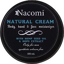 Düfte, Parfümerie und Kosmetik Körper-, Hand- und Gesichtscreme mit Hanföl und Hopfenextrakt für Männer - Nacomi Only For Men Natural Cream