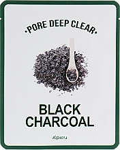 Düfte, Parfümerie und Kosmetik Tuchmaske zur tiefen Porenreinigung mit Aktivkohle - A'pieu Pore Deep Clear Black Charcoal Mask