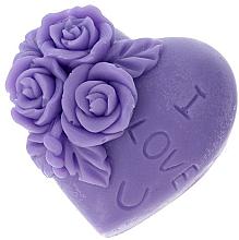Düfte, Parfümerie und Kosmetik Handgemachte Glycerinseife Herz mit Lavendelduft - LaQ Happy Soaps