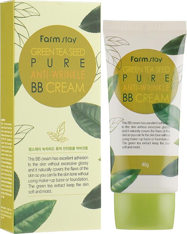 Anti-Falten BB Gesichtscreme mit Grüntee-Samen - FarmStay Green Tea Seed Pure Anti-Wrinkle BB Cream — Bild N1