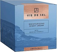 Düfte, Parfümerie und Kosmetik Feuchtigkeitsspendende Nachtcreme für das Gesicht mit Mineralien aus dem Toten Meer - Vie De Sel Moisturizing Night Cream