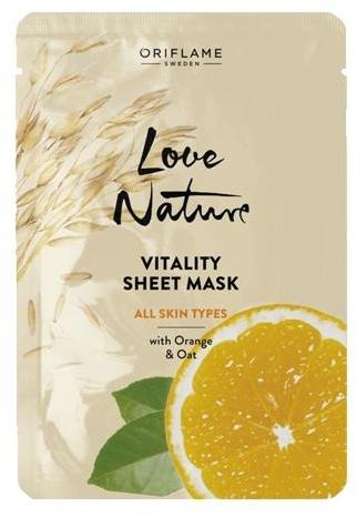 Vitalisierende Tuchmaske für das Gesicht mit Orange und Hafer - Oriflame Love Nature — Bild N1