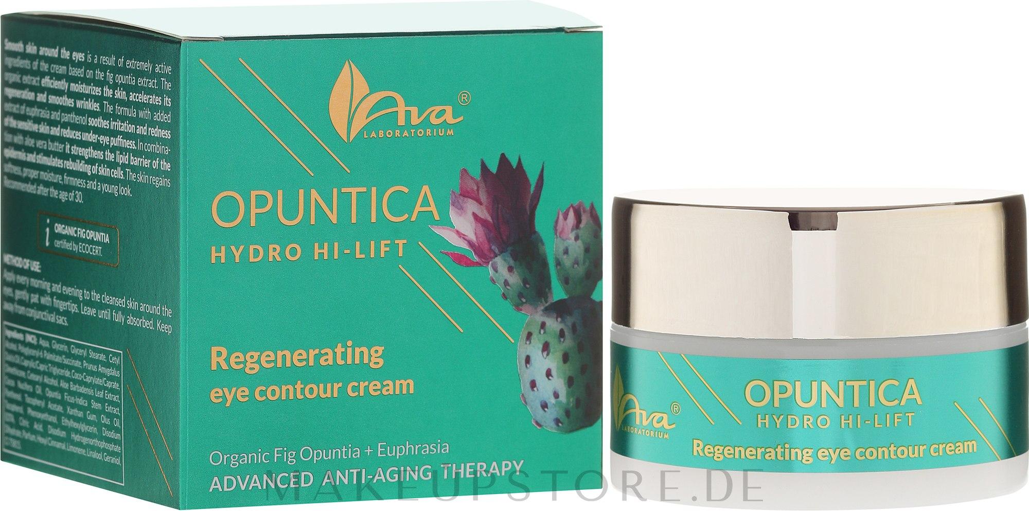 Augenkonturcreme - Ava Laboratorium Opuntica Hydro Hi–Lift Eye Contour Cream — Bild 30 ml