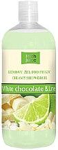 Düfte, Parfümerie und Kosmetik Cremiges Duschgel Weiße Schokolade und Limette - Fresh Juice Sweet Energy White Chocolate & Lime