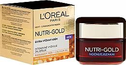 Düfte, Parfümerie und Kosmetik Intensiv pflegende Nachtcreme mit Gelée Royale - L'Oreal Paris Nutri Gold Ultimate Nutrition Rich Night Cream