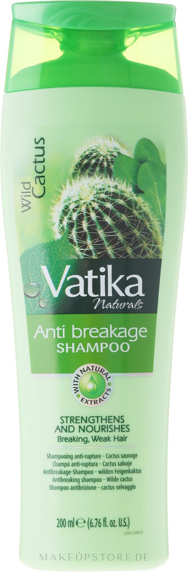 Nährendes Anti-Spliss Shampoo mit Wildkaktus-Extrakt - Dabur Vatika Wild Cactus Shampoo — Bild 200 ml