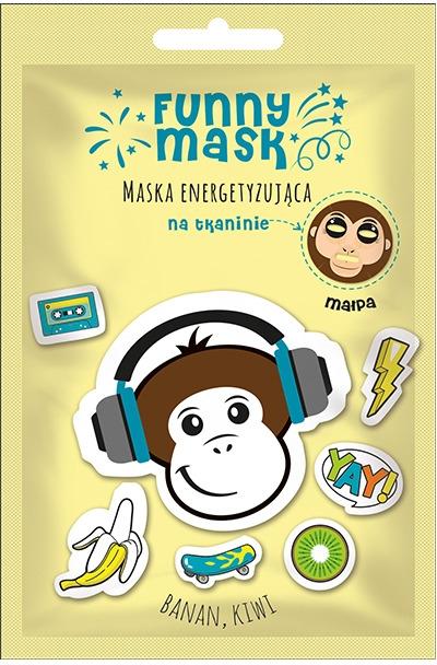 """Belebende Gesichtsmaske mit Banane und Kiwi """"Affe"""" - Marion Funny Mask — Bild N1"""
