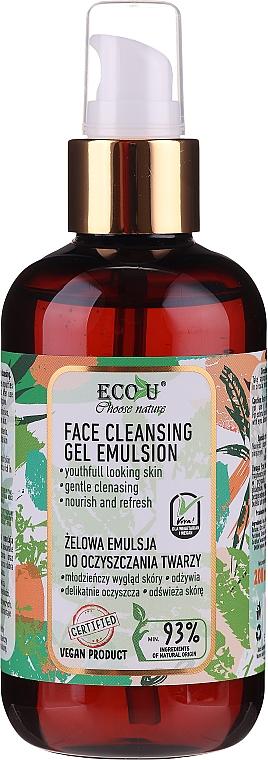 Reinigende Gel-Emulsion für das Gesicht - Eco U Face Cleansing Gel Emulsion