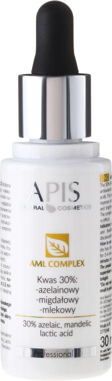 Säurekomplex für das Gesicht mit Azelainsäure, Mandelsäure und Milchsäure - APIS Professional AML Complex KWAS 30%