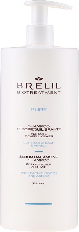 Shampoo für fettiges Haar mit Bachblüten und Arnika - Brelil Bio Traitement Pure Sebum Balancing Shampoo — Bild N3