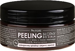 Düfte, Parfümerie und Kosmetik 100% Natürliches Schlamm-Körperpeeling mit Spirulina und Kaktusfeigenöl - E-Fiore Body Peeling