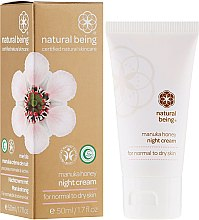 Düfte, Parfümerie und Kosmetik Nachtcreme für normale und trockene Haut mit Manuka-Honig - Natural Being Manuka Honey Night Cream
