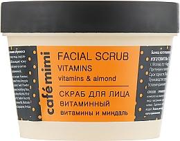Düfte, Parfümerie und Kosmetik Gesichtspeeling mit Mandelöl und Vitaminkomplex - Cafe Mimi Facial Scrub Vitamins