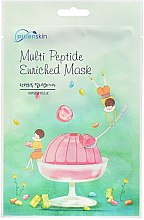 Düfte, Parfümerie und Kosmetik Regenerierende Tuchmaske für das Gesicht mit Peptiden - Purenskin Muti Peptide Enriched Mask