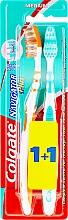 Düfte, Parfümerie und Kosmetik Zahnbürste mittel Navigator Plus grün, orange 2 St. - Colgate