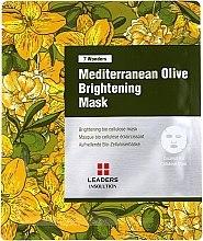 Düfte, Parfümerie und Kosmetik Aufhellende Tuchmaske mit Olivenöl - Leaders 7 Wonders Mediterranean Olive Brightening Mask