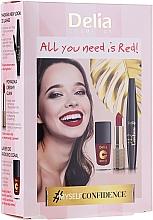 Düfte, Parfümerie und Kosmetik Make-up Set (Lippenstift 4g + Mascara 12ml + Nagellack 11ml) - Delia Cosmetics All You Need Is Red